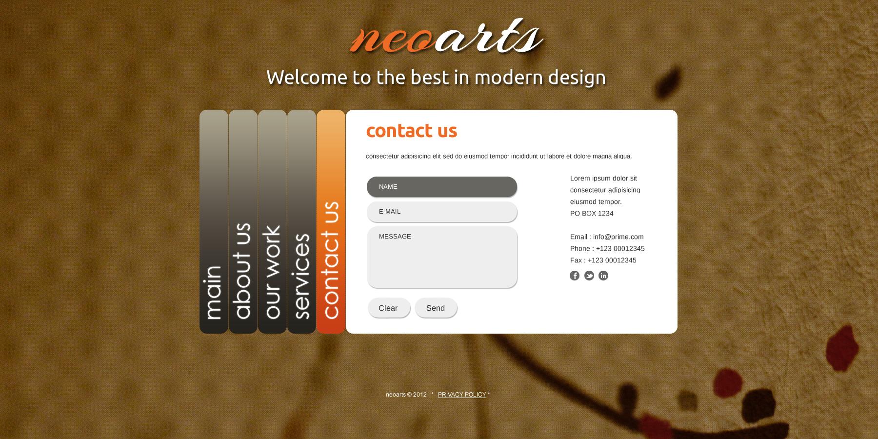 free html5 business portfolio template psd. Black Bedroom Furniture Sets. Home Design Ideas