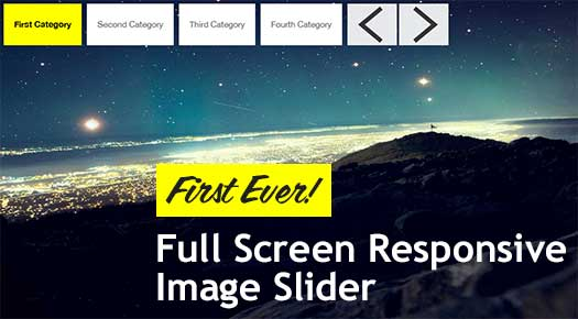 Full screen jQuery Responsive Image and Content Slider