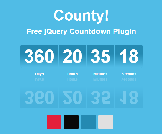 Free jQuery Countdown Plugin: County