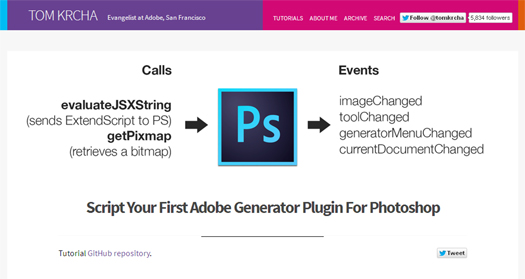 Tutorial Script Your First Adobe Generator Plugin For Photoshop