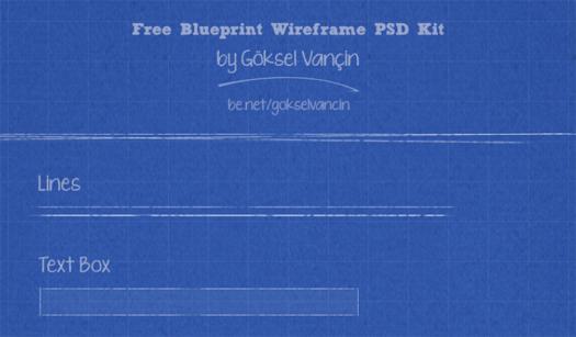 Blueprint Wireframe PSD Kit