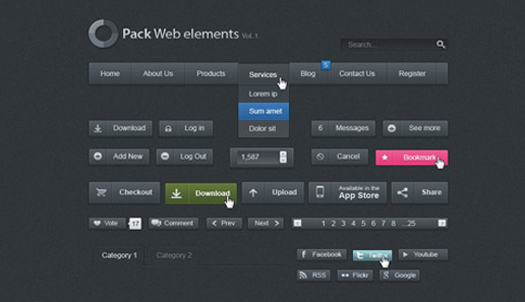 Dark Web UI Set