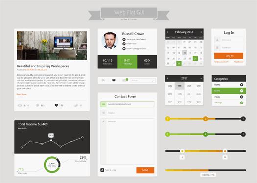 Flat Web & UI Kit Final Pack