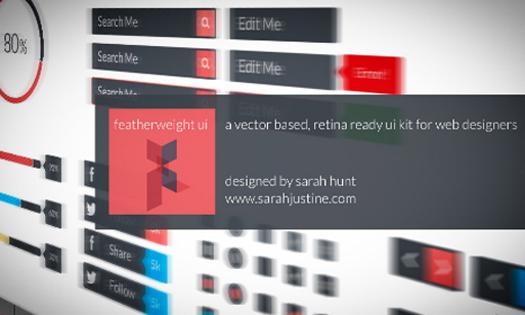 Vector & Retina Ready UI Kit