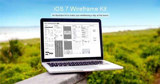 iOS 7 Wireframe Kit (AI & Graffle)