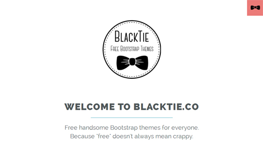 Black Tie - Free Handsome Bootstrap Themes