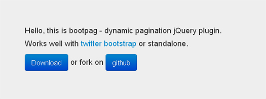 Dynamic Pagination jQuery Plugin - BootPag
