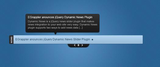 RSS Driven Dynamic jQuery News Slider Plugin: Dynamic News