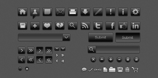 black and white icons for web applications, mobile applications and printing