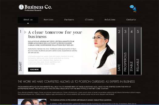 Free Professional Business Website HTML/CSS Template