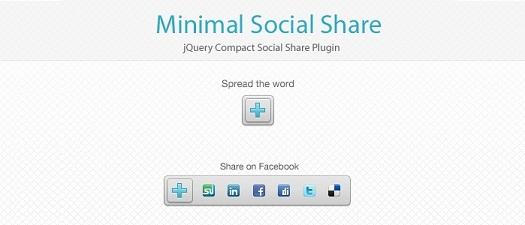 jQuery minimal social media share plugin