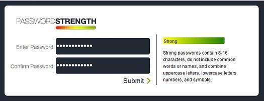 jQuery strong password plugin