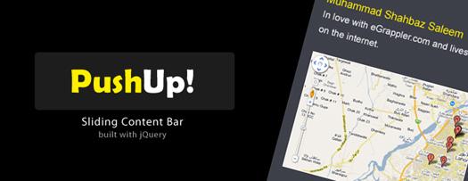 jQuery sliding content bar