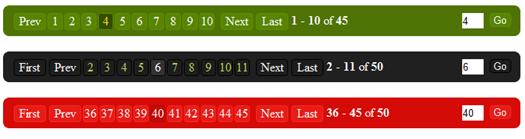 Smart Paginator plugin screen