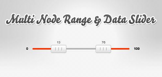 multi node range and data slider: jQSlider