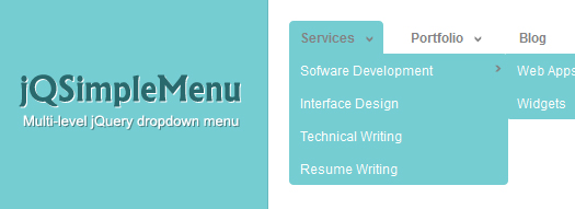 Multi-Level Hierarchical jQuery Menu: jQsimplemenu