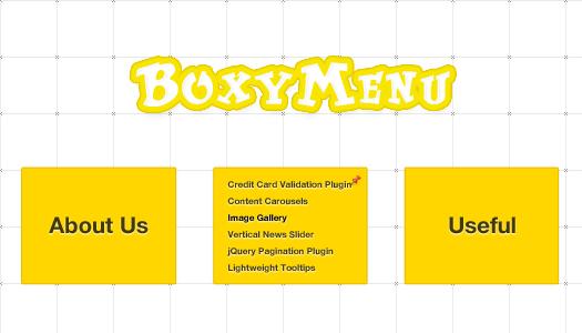 Fast and Simple Links Box Navigation Menu BoxyMenu