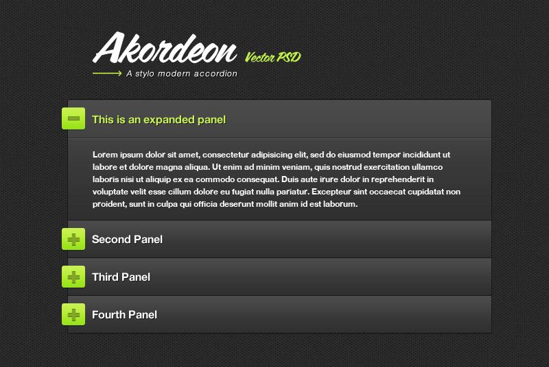 Trendy jQuery Accordion Plugin (FREE): Akordeon | EGrappler