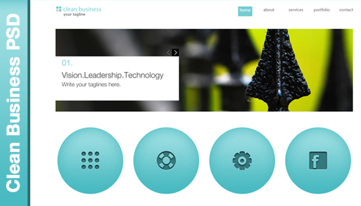 Clean business template PSD