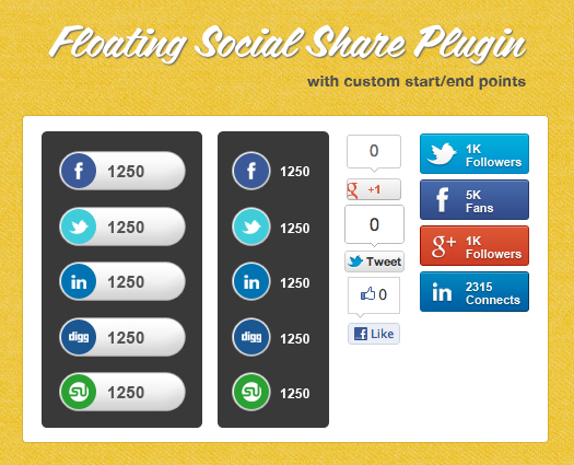 jQuery Floating Social Share Plugin