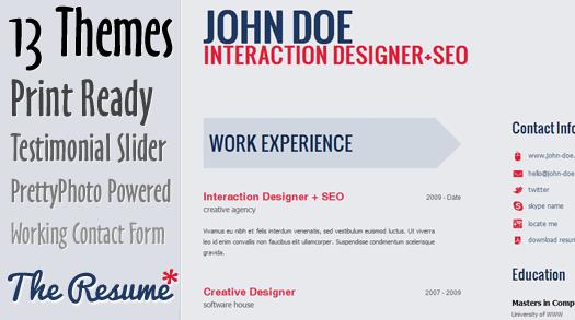 HTML5 CV/Resume Template