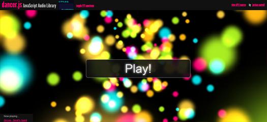 JavaScript Audio Library (API) Dancer js