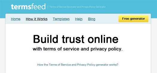 Terms-Of-Service-and-Privacy-Policy-Text-Generator