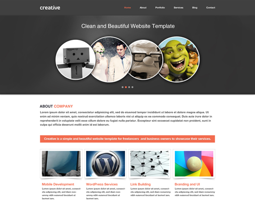 Free portfolio and enterprise website psd template artistic egrappler free business portfolio template psd wajeb