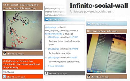 Infinite-Social-Stream-Based-on-RSS-Feeds