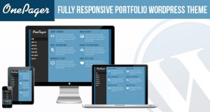 Free Responsive Portfolio WordPress Theme: One Pager