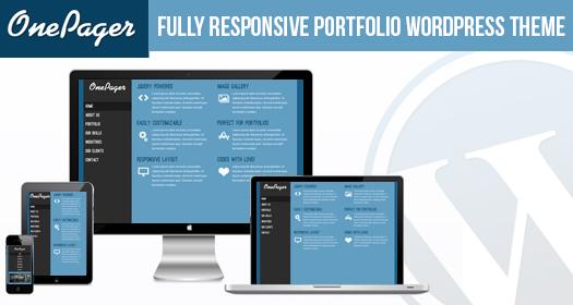 Free Responsive Portfolio WordPress Theme - OnePager