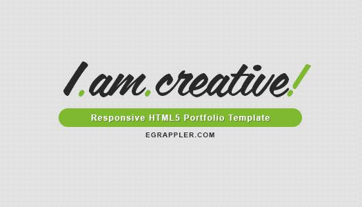 I am creative template