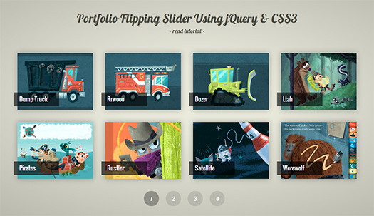Portfolio-Flipping-Slider-Using-jQuery-CSS3