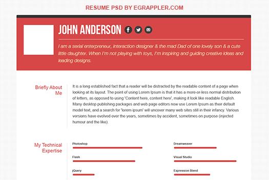 Responsive HTML5/CSS3 Resume Template