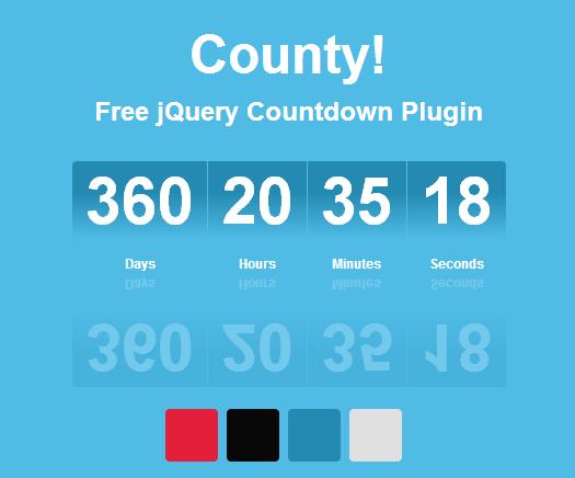 Free jQuery Countdown Plugin: County