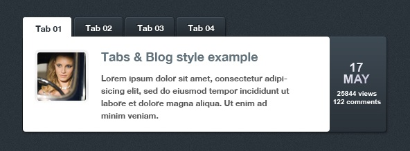 WordPress Tabbed Information Slider Plugin: wp-tabbed-news