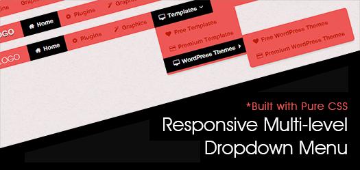 Pure CSS Based Multi Level Responsive Navigation Menu