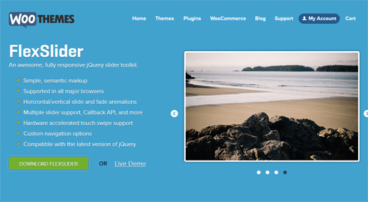 Flexslider - Fully Responsive jQuery ImageContent Slider Toolkit