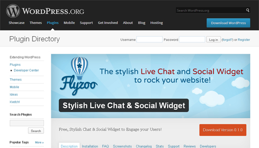 Cloud Based Live Chat, Group Chat and Social Widget - Flyzoo