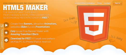 Easily Create HTML5 Animation with HTML5 Maker