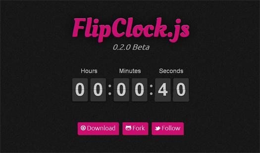 Flipclock JS
