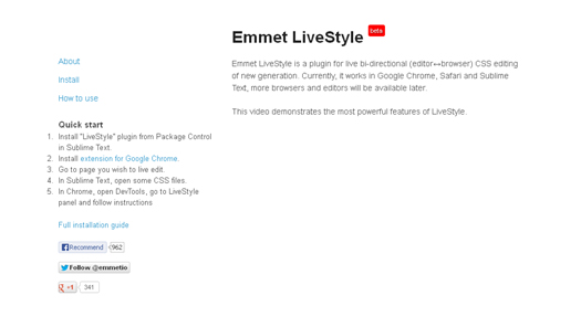 Live Editor Browser CSS Editing - Emmet LiveStyle