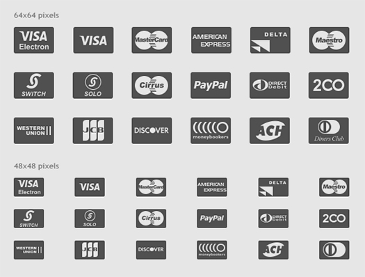 Payment Glyphs (PSD, PNG & EPS)