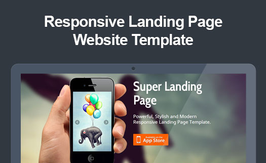 Retina ready responsive app landing page website template for Jquery landing page templates