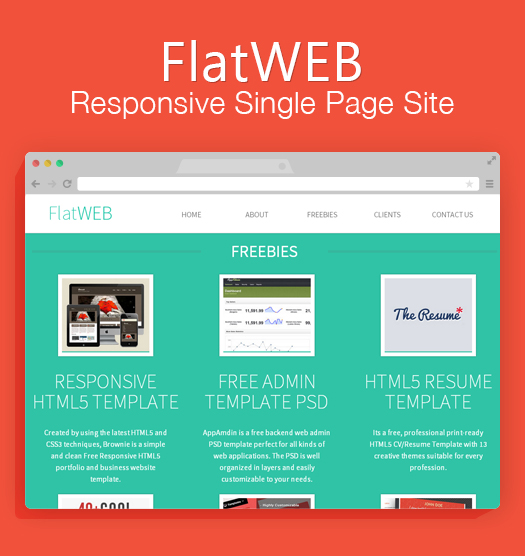Make Your Personal Website With FlatWEB - A Single Webpage ...