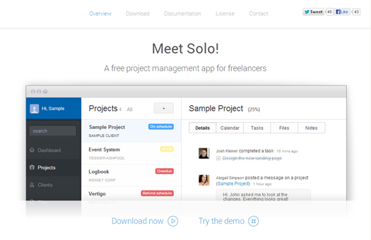 A Free Project Management Application for Freelance Web Design Professionals