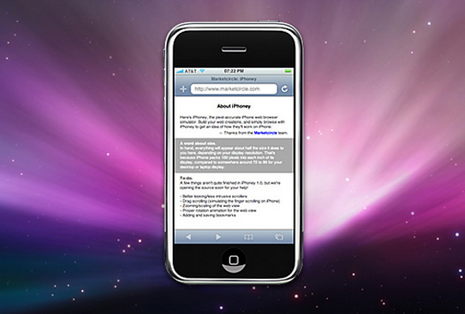 A Free iPhone Web Simulator For Designers - iPhoney