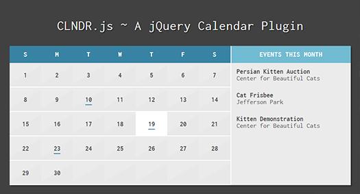 CLNDR-js-Free-jQuery-Calendar-Plugin