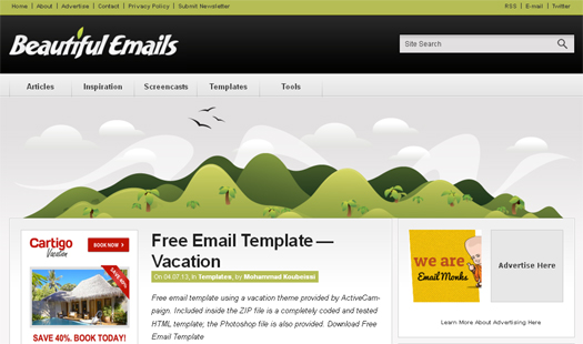 free email template vacation - Free Email Newsletter Templates