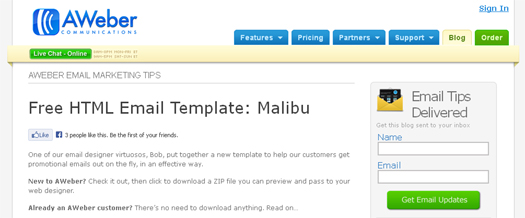 free html email template free download malibu